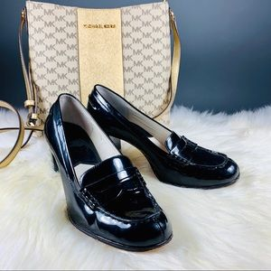 Michael Kors Patent Heeled Loafers Size 7.5M